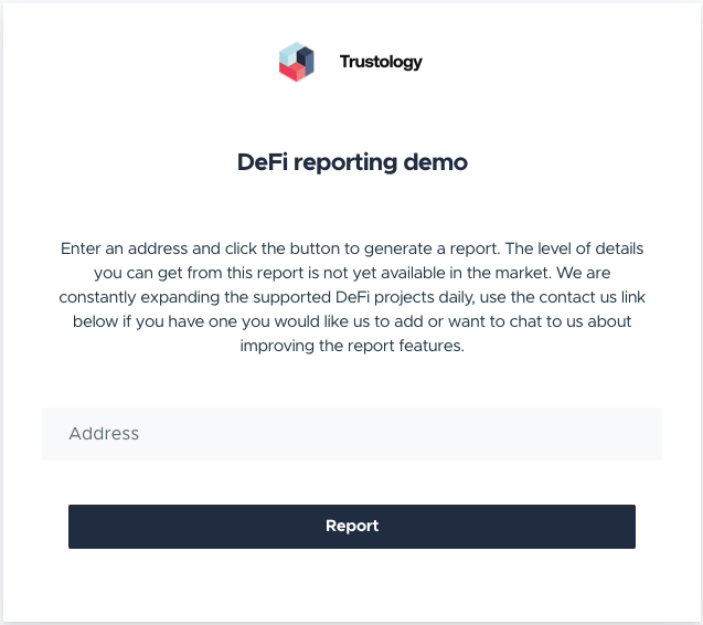 TrustVault DeFi Reporting